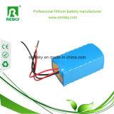 paquet 6000mAh de la batterie Li-ion 18650 7.4V pour le phare