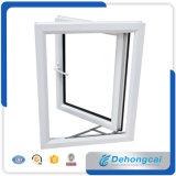 Подгонянное окно белого профиля UPVC фикчированное двойное герметичное стеклянное/пластичное окно/окно слайдера