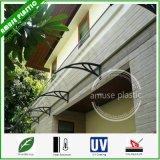 Fácil de colocar cubiertas de policarbonato Puerta pabellón de la ventana toldo del patio