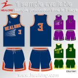 Basket-ball Jersey de sublimation de vêtements de sport de club d'équipe de Healong