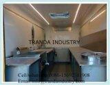 Automobile di buffet del BBQ della benzina con il forno mobile della pizza della cucina all'interno