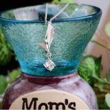 Colar do pendente do amor do anjo da prata esterlina das mulheres 925 com corrente