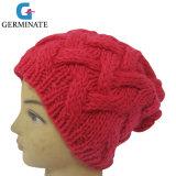 方法ケーブルによって編まれる帽子の女の子様式の暖かい帽子の帽子(Hjb011)