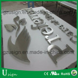 Fuerte Resistencia al Viento 304 # Cepillo de Acero Inoxidable Terminado LED Backlit Sign Board