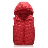 A roupa ao ar livre conservada em estoque de Uniq tosa para baixo o revestimento de Hoodie da grade do inverno para crianças