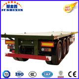 3 Oplegger van het Bed van de Aanhangwagen van de Container van /60t van de as 50t de Vlakke