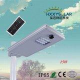 Preço de grosso todo em uma luz de rua solar solar de Systen 12V 15W