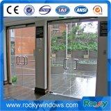 Portes commerciales en verre de Frameless de garantie en acier à haute teneur doubles