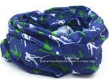 Bandana tubolare di sport di marchio del motociclista della fascia del pattino del collo senza giunte multifunzionale blu su ordinazione promozionale della sciarpa