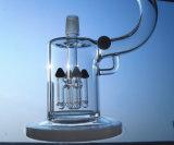 Tubulação de vidro do fumo da água da forma branca do microscópio da cor