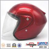 Casco rosso del motociclo/motorino di lustro poco costoso (OP220)