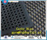 Mat Antislip&#160 van de Mat van de drainage de Rubber Zuurvaste Rubber; Rubber De RubberMat van de Weerstand van de Olie van de mat