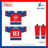 Healong a importé des Jersey d'hockey de bille d'impression de tissus de Digitals d'encre