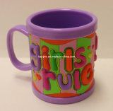 높은 Quality Plastic Cup Promotional 3D Rubber Cartoon Mug (찻잔 016)