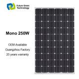 panneau solaire monocristallin d'énergie solaire d'énergie renouvelable de l'usine 250W