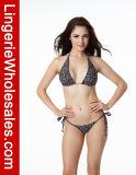 Frauen-Dame-Weinlese-Blumenzeichenkette-reizvoller Bikini