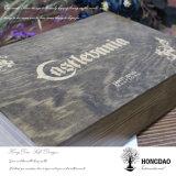 Hongdao modificó la caja de embalaje del regalo para requisitos particulares de madera de la insignia con deslizar el _E de la venta al por mayor de la tapa