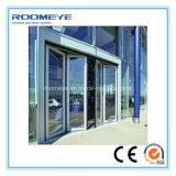 Puerta de plegamiento de cristal de aluminio de Frameless del receptor de papel de la alta calidad de Roomeye