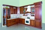 Armário de cozinha americano do bordo da madeira contínua da mobília da cozinha do estilo (Hy081)