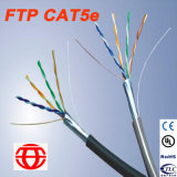 Cable de la red del ftp Cat5e usado para el ordenador