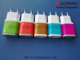De kleurrijke 5V 2AEU de V.S. stopt de Dubbele Lader van het Huis van de Lader van de Reis USB voor Mobiele Telefoon van Fabriek