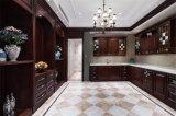 Armadi da cucina 2016 alzati americani di legno solido di stile della mobilia americana della cucina di Welbom