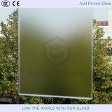 L'acide a repéré la glace de Satinized pour des écrans en verre en verre de partitions/mur/douche en verre