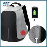Anti saco impermeável da trouxa do roubo com porta do carregador do USB