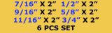 Conjunto anular del cortador de 6 PCS HSS