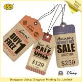 Tag em branco perfurados das etiquetas de preço da roupa