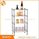 4層のMetal Chrome Homeの居間Wire Shelving Rack