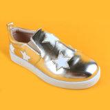 جديدة وصول [بو] جلد نجم نوع ذهب مزح متعطلة أحذية مسطّحة