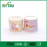 Tazón de fuente de papel modificado para requisitos particulares de la impresión del diseño de la ensalada flexible de la categoría alimenticia