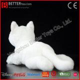リアルで柔らかい猫の現実的なぬいぐるみのプラシ天白い猫のおもちゃ