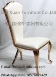Plutônio dourado luxuoso do aço inoxidável de Rosa da mobília francesa moderna que janta a mobília da HOME da cadeira
