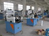 Corte de la escritura de la etiqueta de la ropa y máquina automáticos tejidos e impresos del doblez de centro
