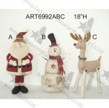 Ornamento della decorazione dell'albero di Natale di Patchwork+Handstitched, 4asst