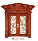 Puerta de acero de la seguridad de China de la puerta de entrada (FD-1063)