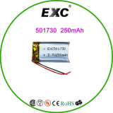Lipo 3.7V 210mAh Rechargeable Battery 501730 met Protection Board voor MP3, Bluetooth