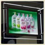 表示アクリルの水晶ライトボックス(天井のハング)を広告するLED