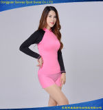 Lycra Long Sleeve Track Suit Sportswear Rash Guard para esportes