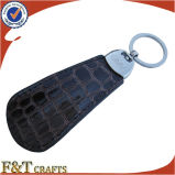 Kundenspezifisches personifiziertes Form PUförderndes Shoehorn-Leder Keychain (FTKC1577A)