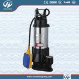 V pompe d'évacuation des eaux usées submersible d'acier inoxydable de Seires