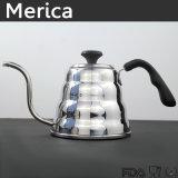 L'acciaio inossidabile versa sopra il Cookware della caldaia del caffè