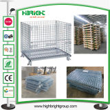 Equipamento resistente gaiolas galvanizadas do armazenamento do metal