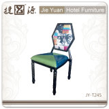 Hexagonal Backrest (JY-T244)를 가진 금속 Restaurant Chair
