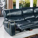 Masaje eléctrica reclinable Sofá de cuero (638)