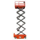 El móvil de cuatro ruedas Scissor la plataforma de la elevación hidráulica para las ventas