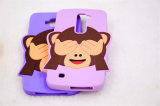 Couvrir le cas de téléphone cellulaire de silicones de singe de yeux (XSDW-009)