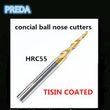 Инструменты носа шарика HRC55 Tisin Coated Concial